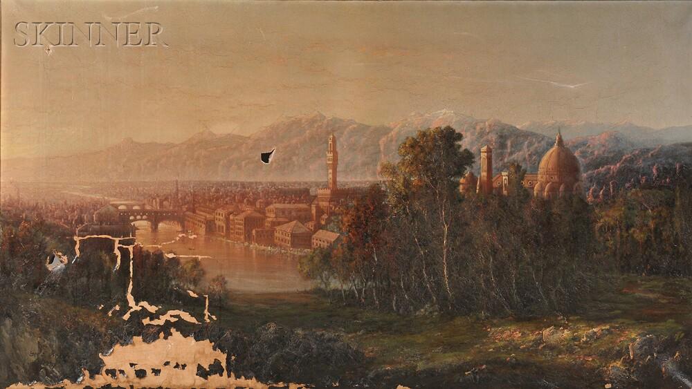 George Loring Brown (American, 1814-1889)      Panorama of Florence
