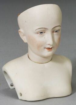 Early French Bisque Character Lady Head
