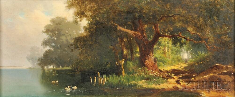Francesco (Luigi) Lojacono (Italian, 1841-1915)      Path to the Shore