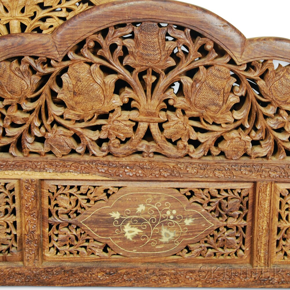 canopied carved wood bed frame sale number 2906t lot martanny california king canopied poster bed warm brown
