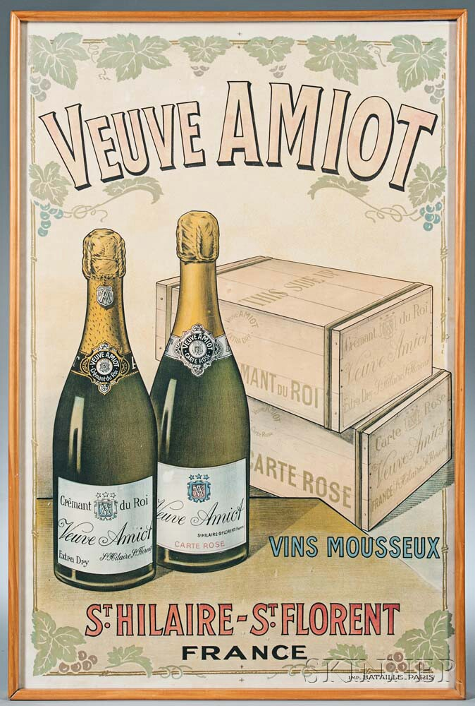 """""""Veuve AMIOT"""" Advertising Poster"""