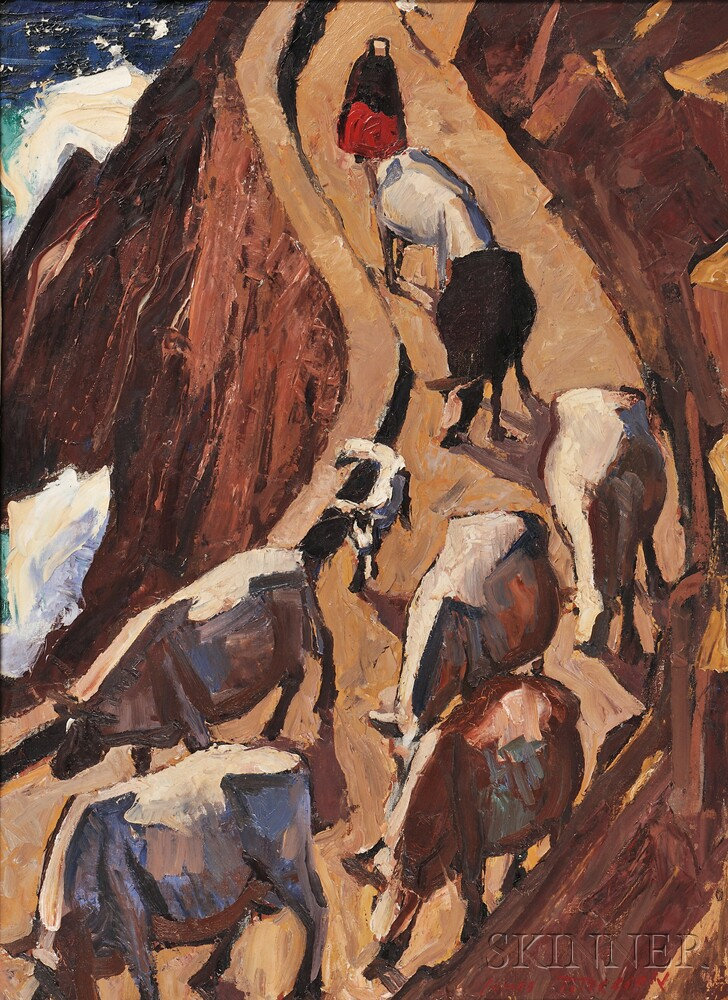James Fitzgerald (American, 1899-1971)      The Cows of Kerry