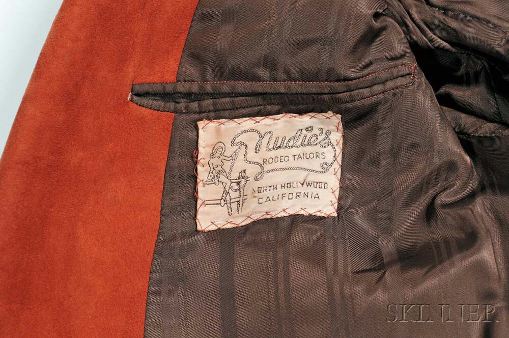Little Jimmy Dickens     Rust Nudie Suede Coat, 1954