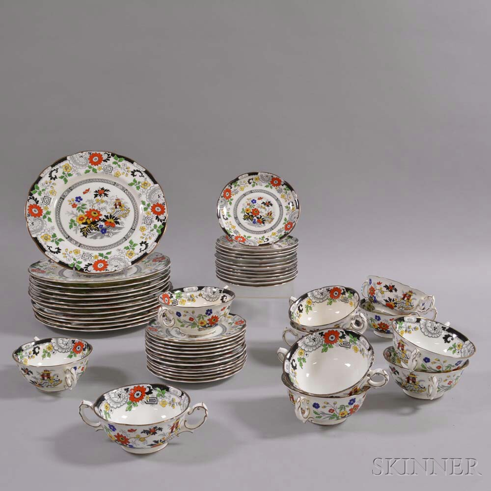 "Forty-seven Piece Coalport ""Canton"" Porcelain Tableware Service"