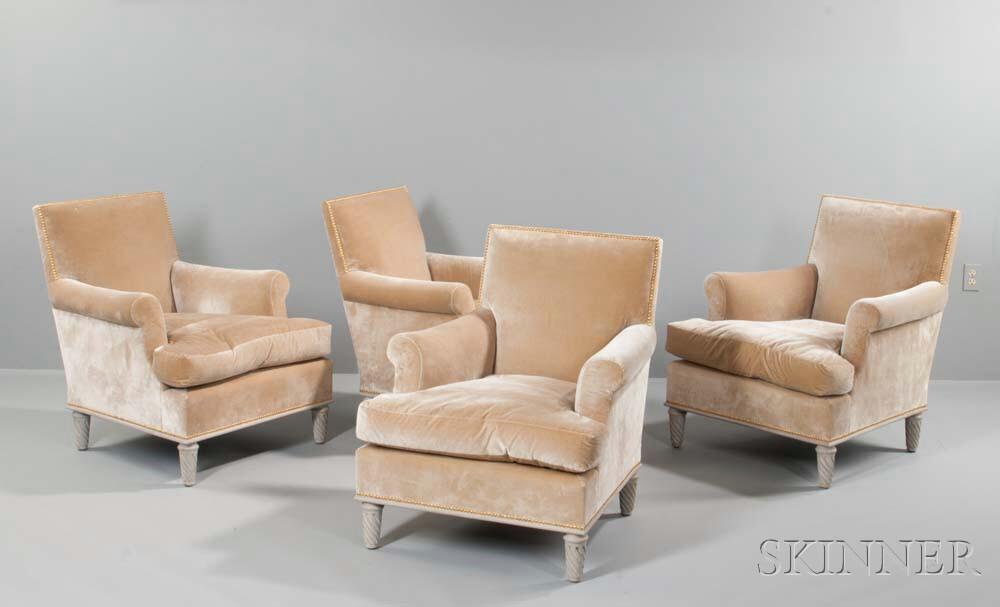 Four Jansen-style Club Chairs