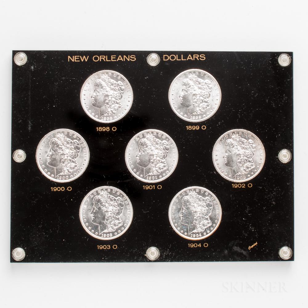 Seven New Orleans Morgan Dollars