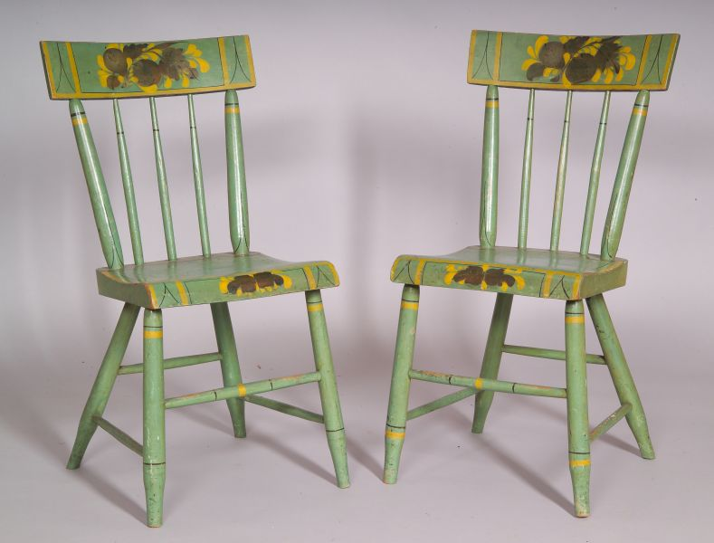 Pair of Paint-decorated Side Chairs