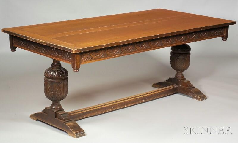 Elizabethan Style Oak Refectory Table