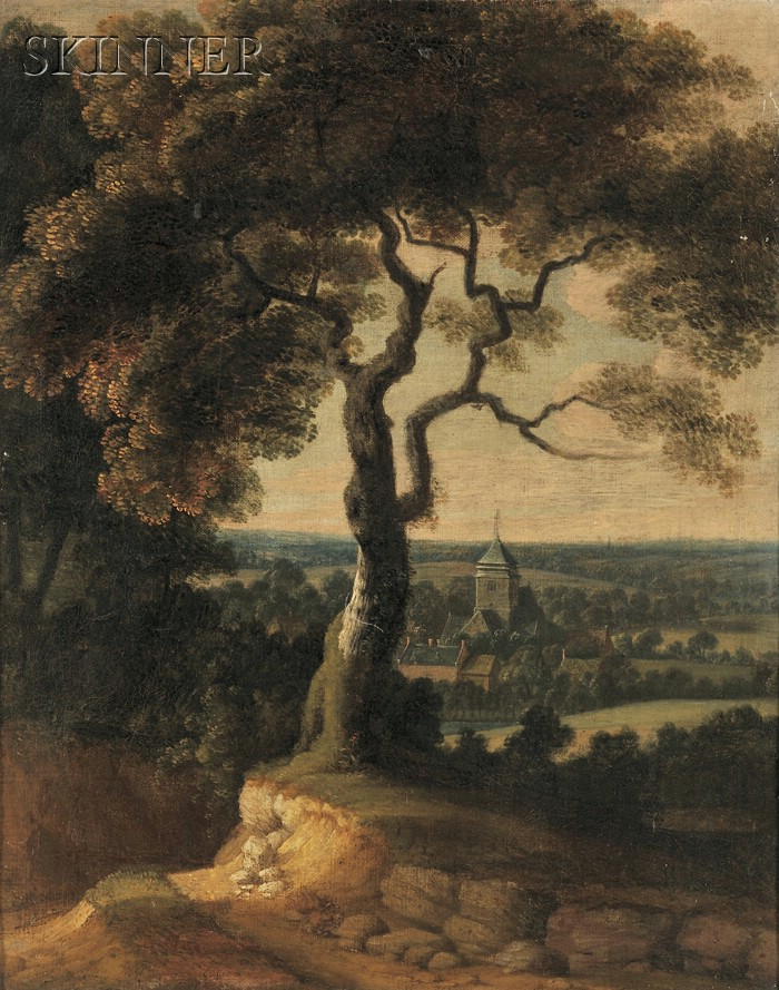 Dutch School, 19th Century      Landscape with a Country Church