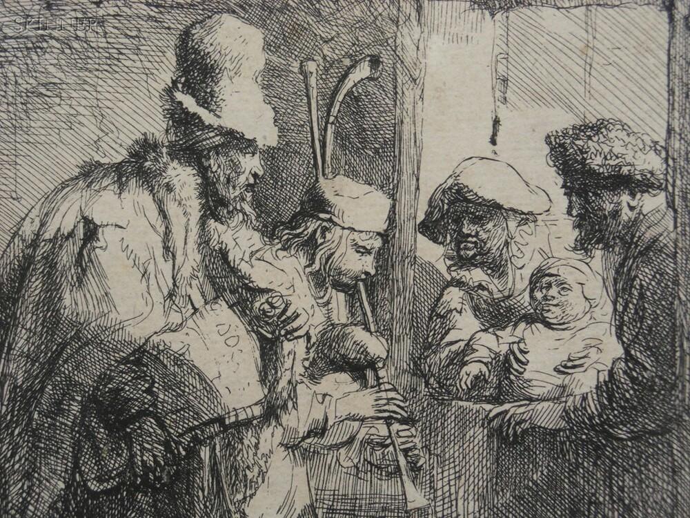 Rembrandt van Rijn (Dutch, 1606-1669)      The Strolling Musicians