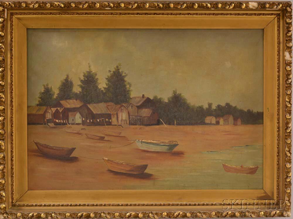 American School, 19th Century      Fisherman's Shacks, Swampscott.