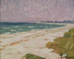 Carl Linden (American, 1869-1942)  Nantucket Beach