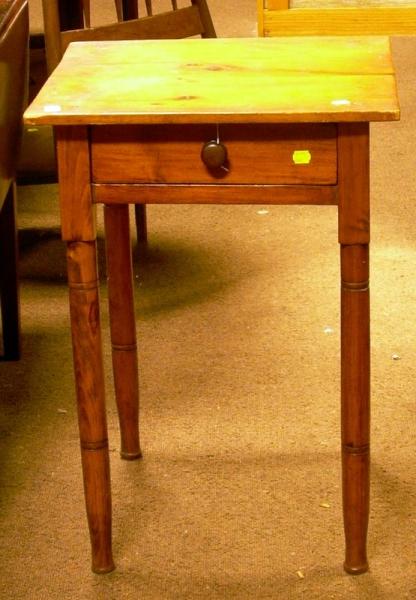 Pine Single-Drawer Stand.
