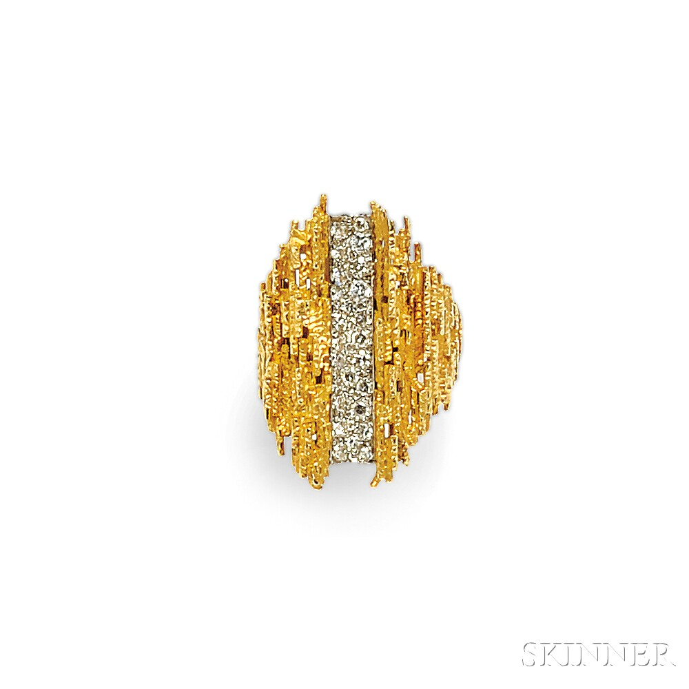 18kt Gold and Diamond Ring, Andrew Grima
