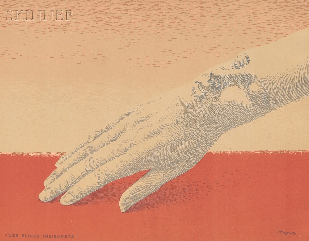 René Magritte (Belgian, 1898-1967)      Les bijoux indiscrets