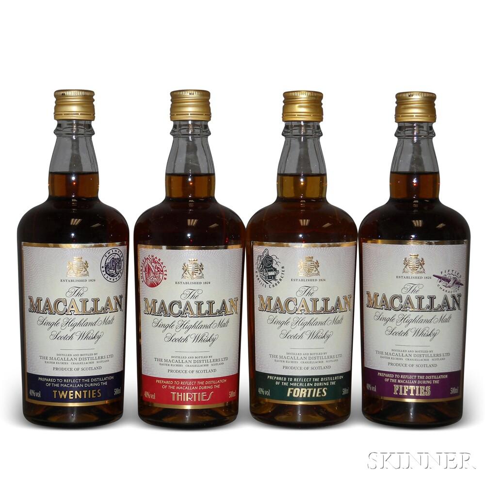Mixed Macallan, 4 500ml bottles