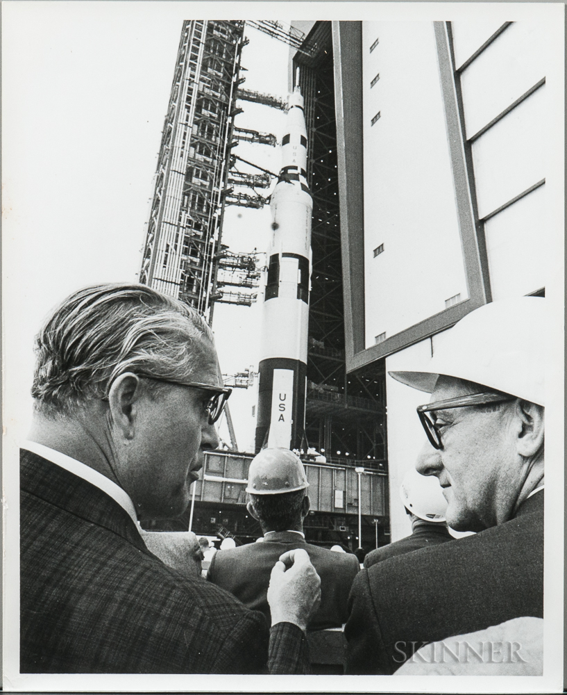 Project Apollo, Unmanned Tests, Various Saturn Missions, 1964-1968, Nine Photographs.