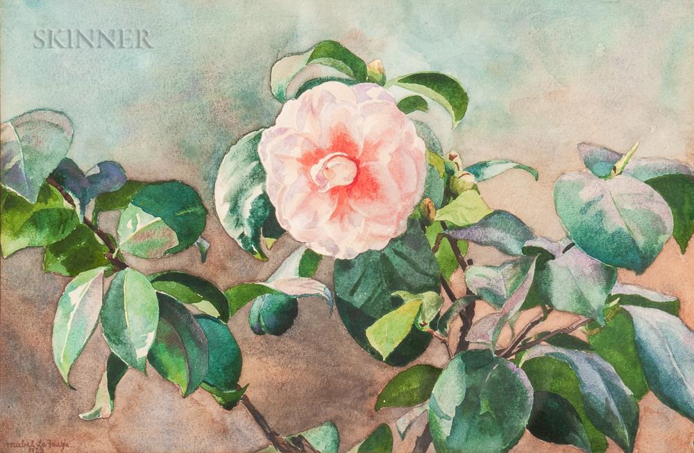 Mabel Hooper La Farge (American, 1875-1944)      Camellia August Sky