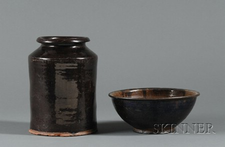 Redware Bowl and Jar