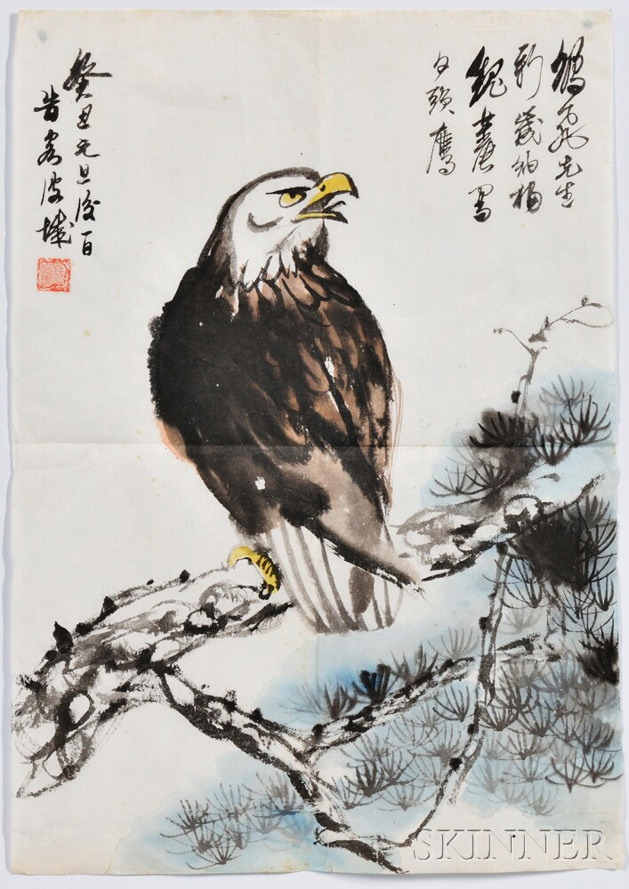 Loose Painting Depicting an Eagle