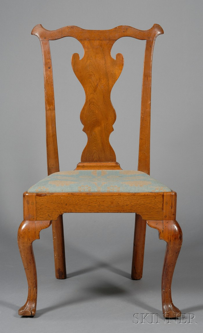 Chippendale Walnut Carved Side Chair