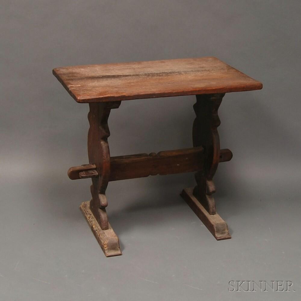 Small Oak Trestle Table