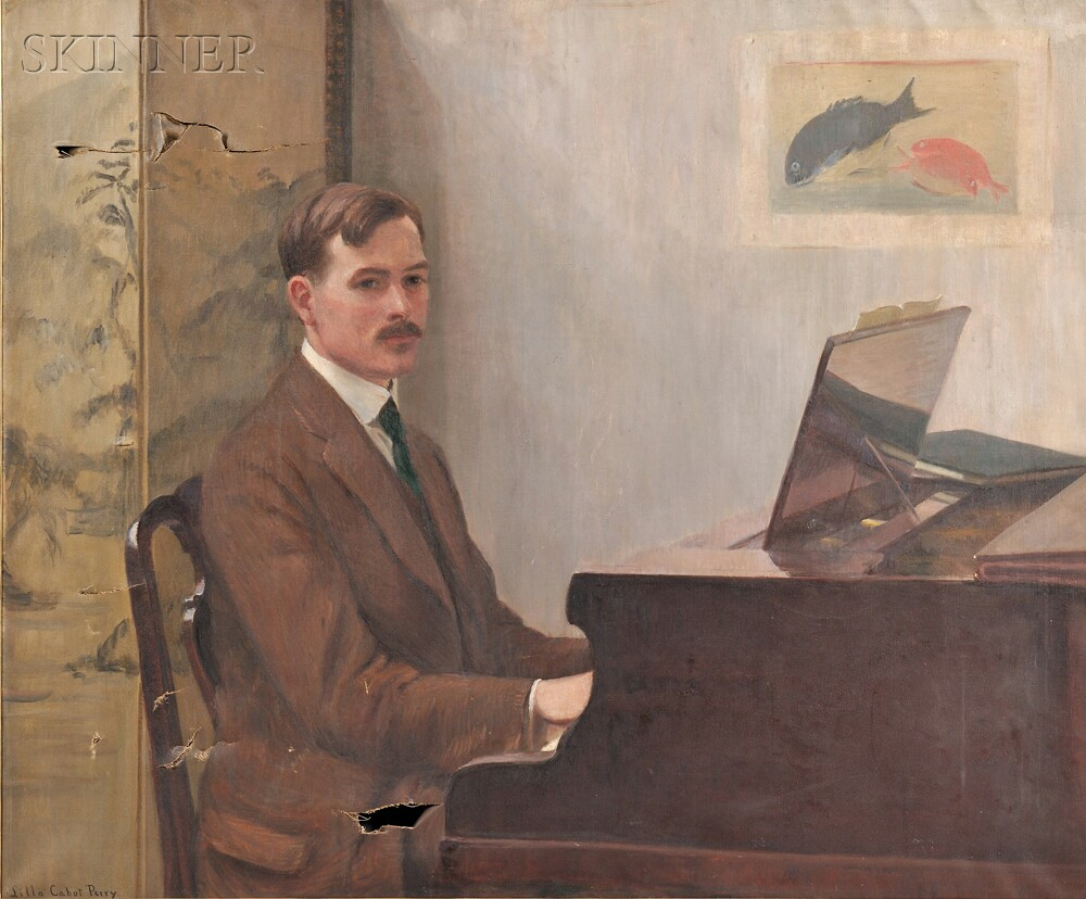 Lilla Cabot Perry (American, 1848-1933)      Gentleman at a Piano