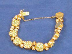 14kt Gold and Turquoise Slide Bracelet.