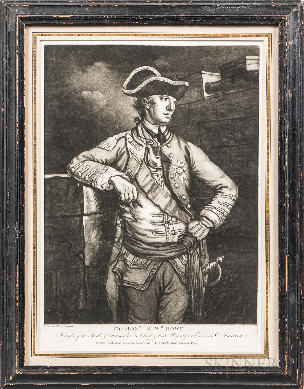 Mezzotint of the Honorable Sir William Howe