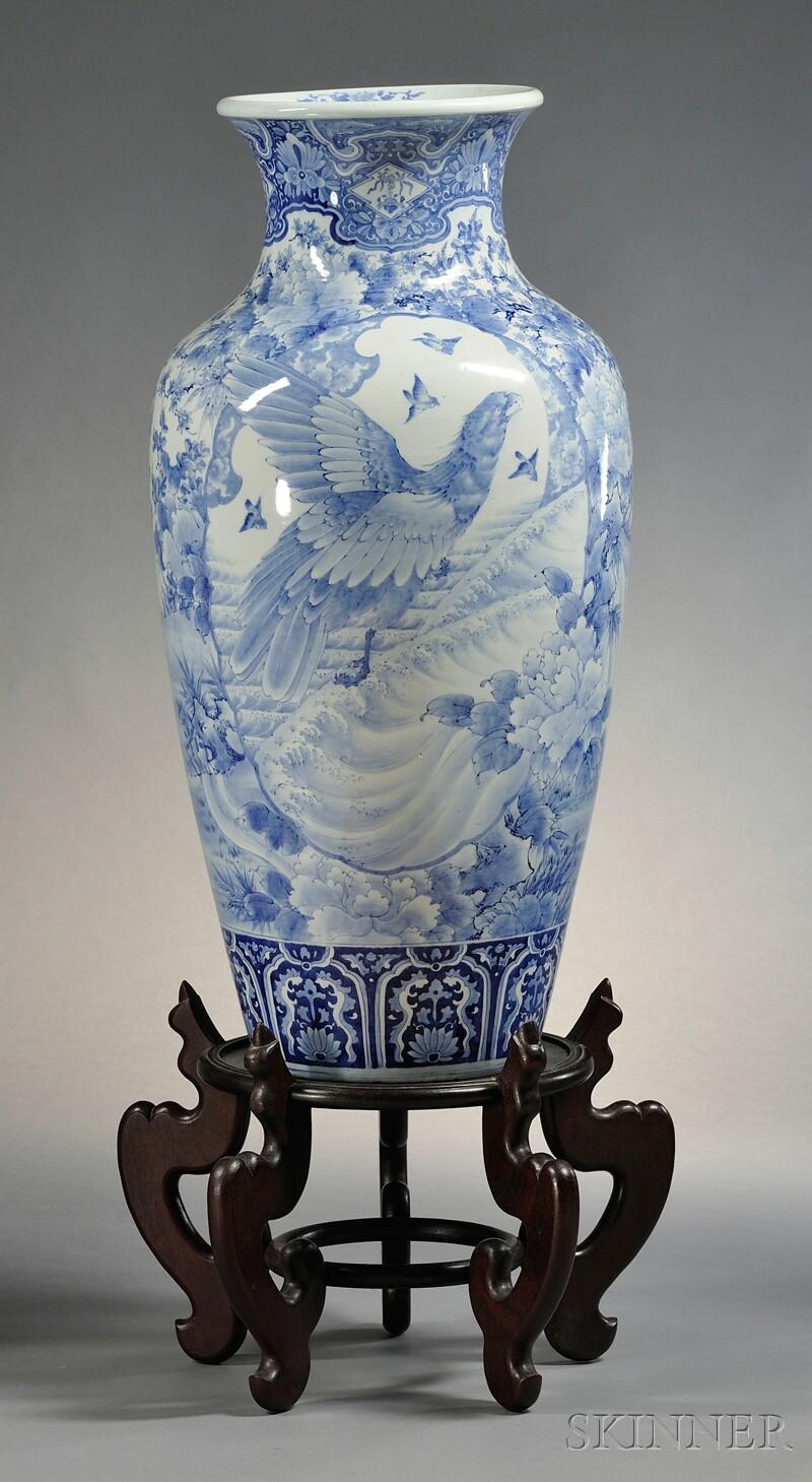 """Blue and White """"Palace Vase"""""""
