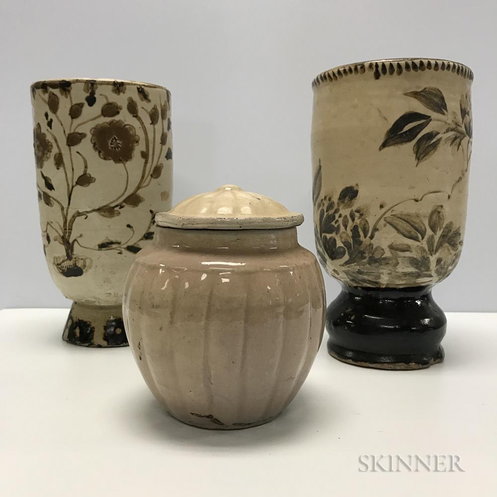 Three Cizhou-style Wares