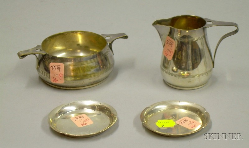 Pair of Porter Blanchard Sterling Silver Butter Pats