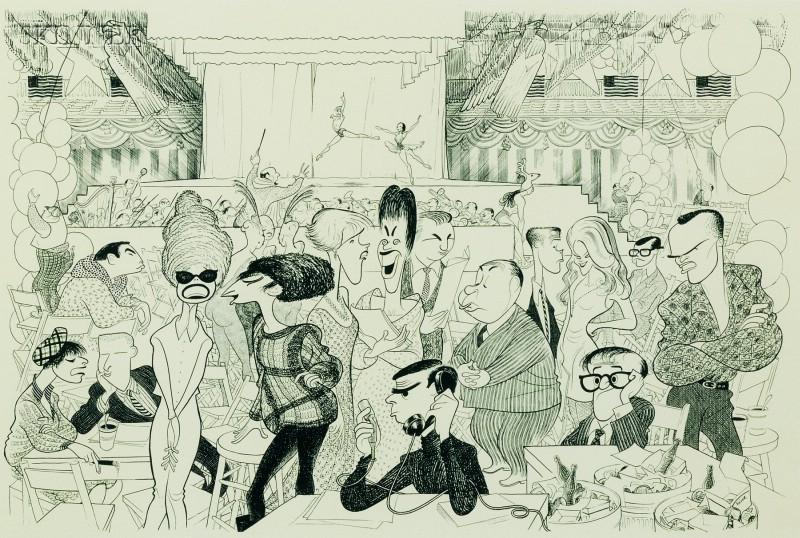Albert Hirschfeld (American, 1903-2003)      Washington Gala 1968