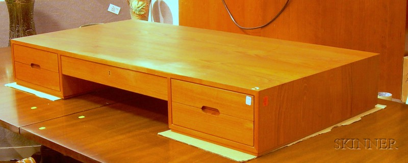 Danish Teak Veneer Desk