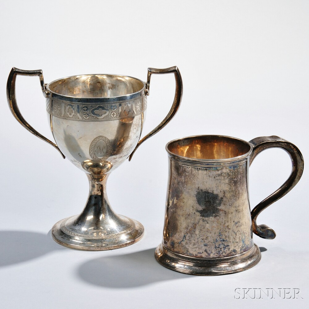 Two Piece of George III Sterling Silver Hollowware