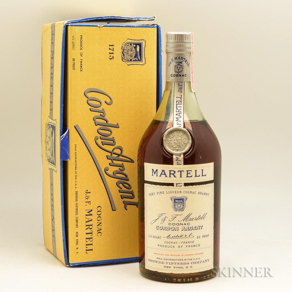 Martell Cordon Argent Cognac, 1 4/5 quart bottle (oc)