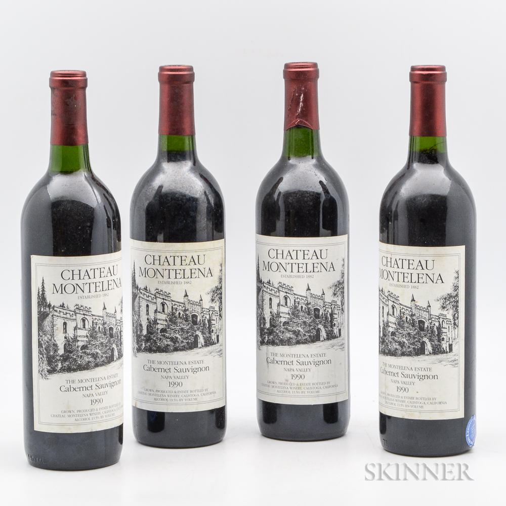 Chateau Montelena Estate 1990, 4 bottles