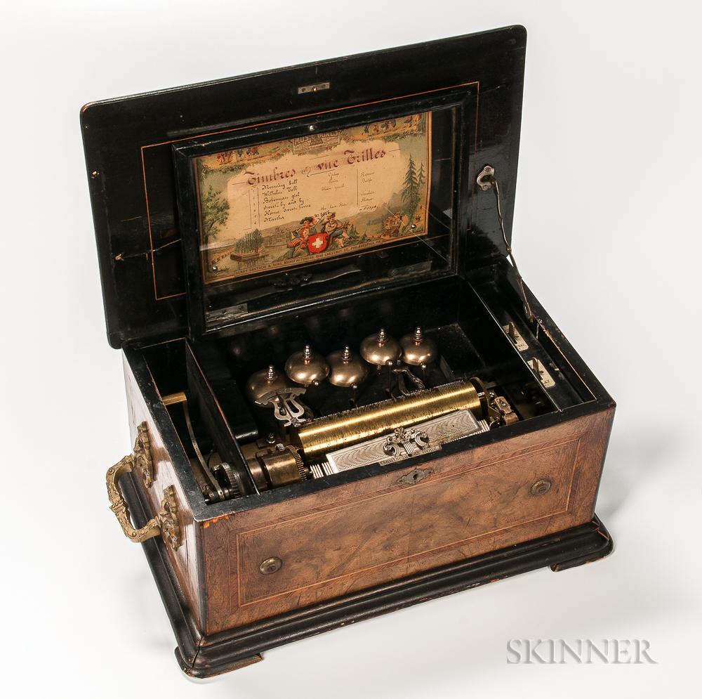 Henry Gautschi & Sons Six-air Cylinder Musical Box