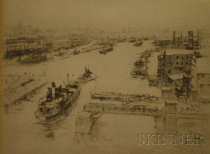 William Walcott (British, 1847-1943)      The Thames