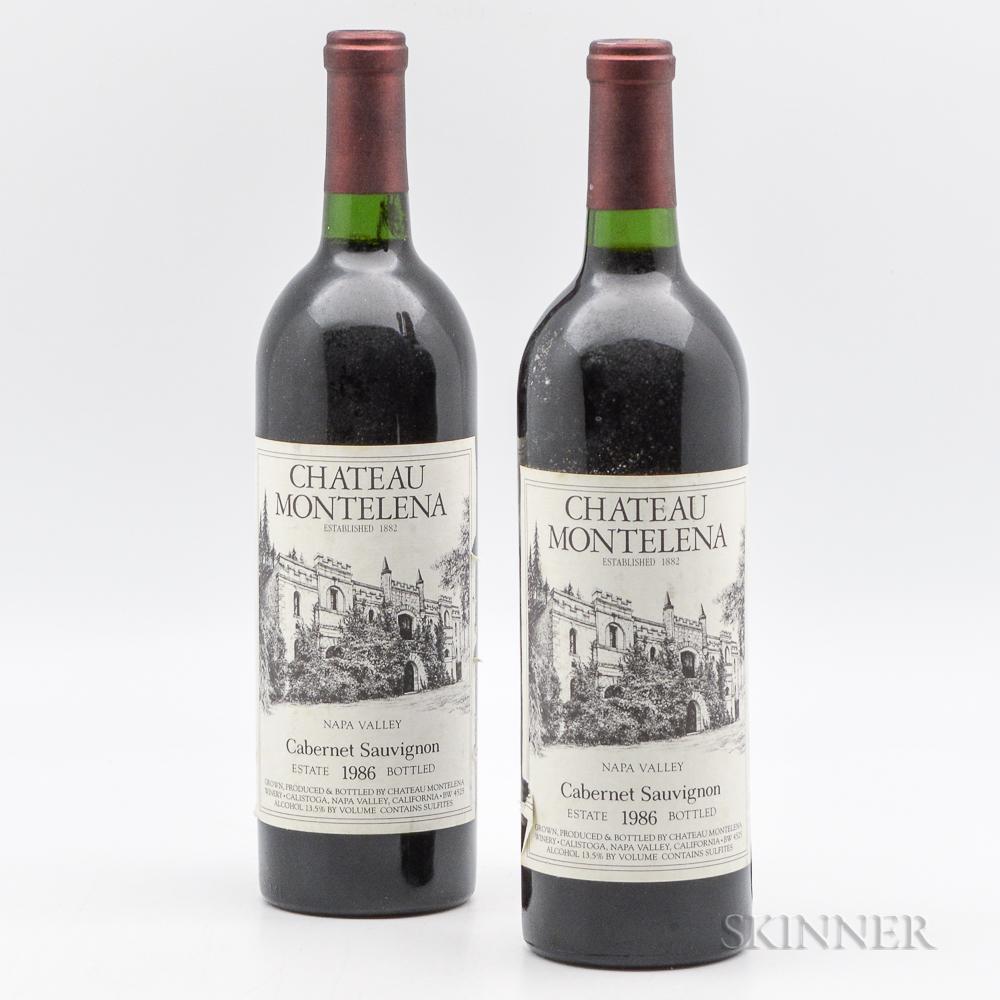 Chateau Montelena Estate 1986, 2 bottles