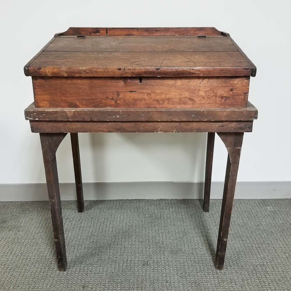 Country Walnut Desk-on-stand