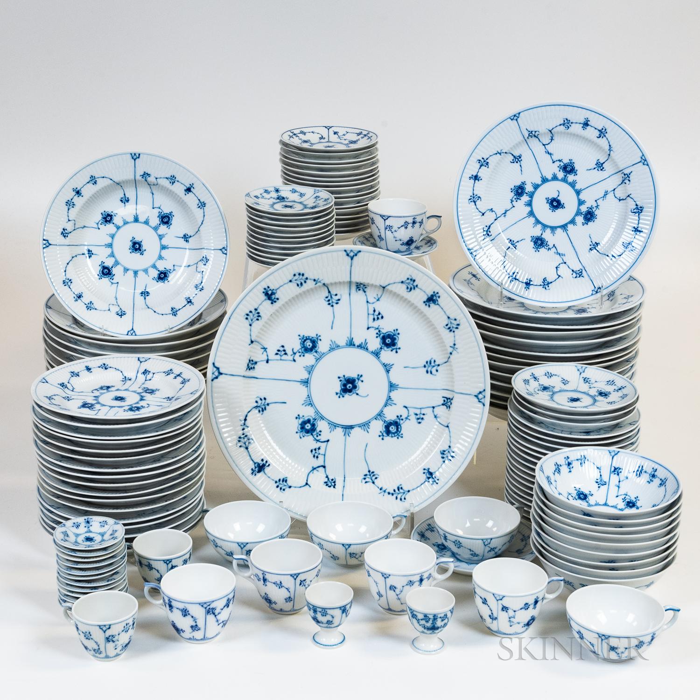 "Large Group of Royal Copenhagen ""Blue Fluted"" Ceramic Tableware"