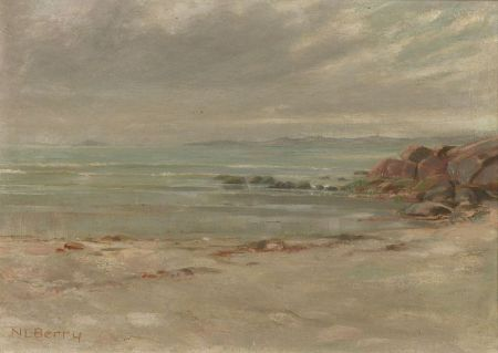 Nathaniel Leander Berry (American, b. 1859)  A Memory of Swampscott, Gray Weather, Ebb Tide