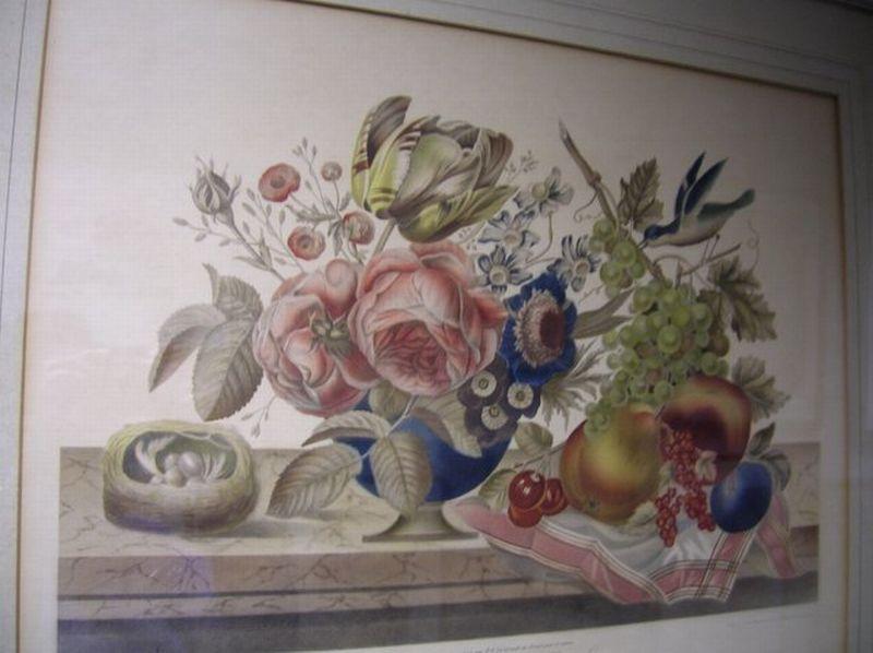 Framed Mechanical Lithograph Le Vase de Fleurs