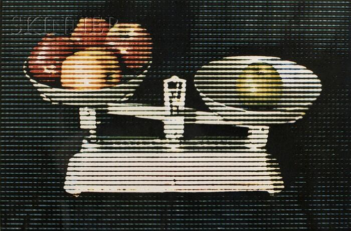 Alain Jacquet (French, 1939-2008)      Balance and Fruit