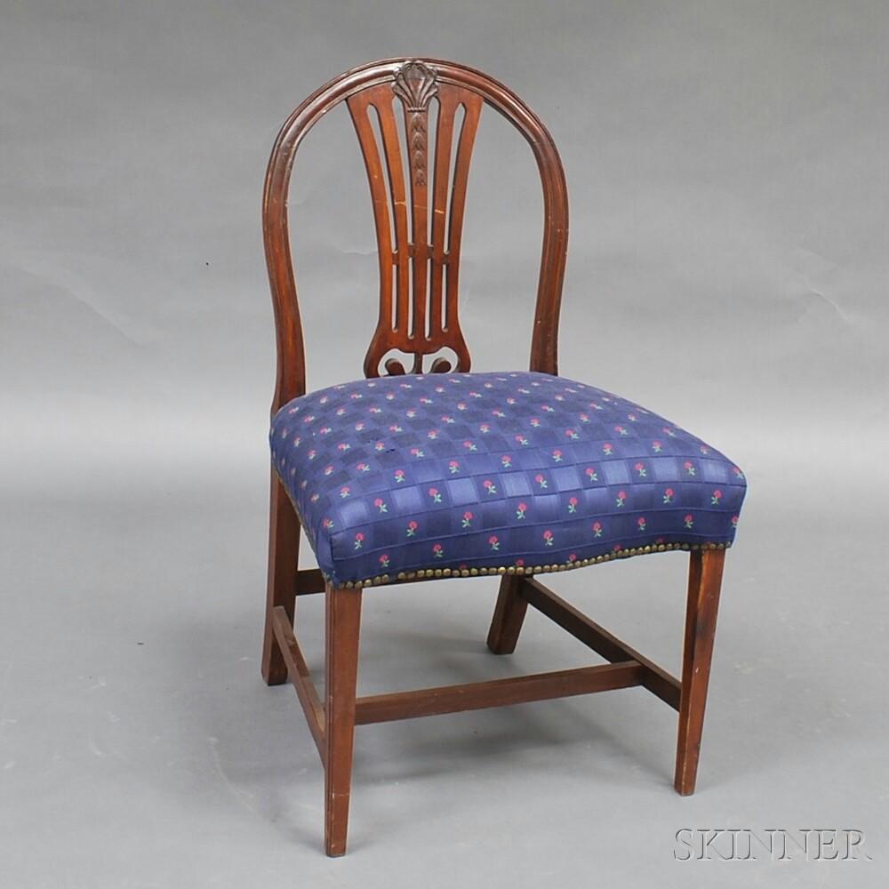 George III Mahogany Side Chair
