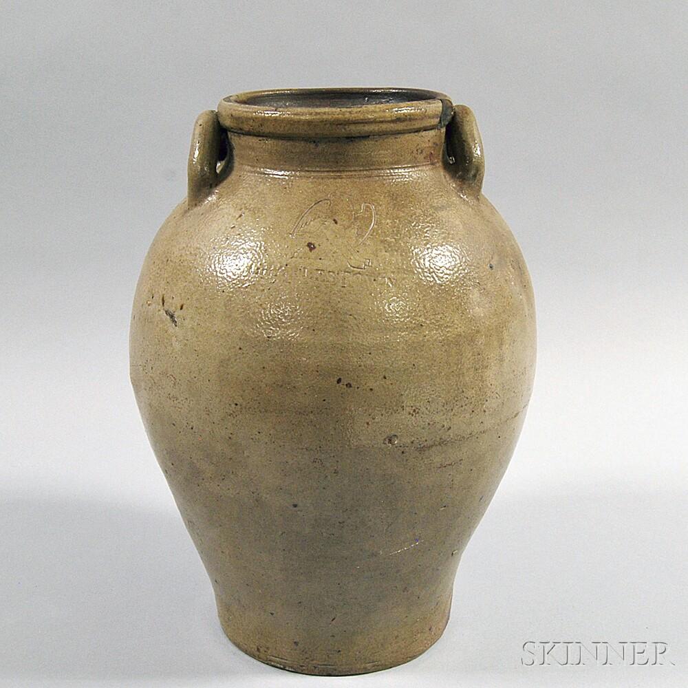 """CHARLESTOWN"" Stoneware Jar"