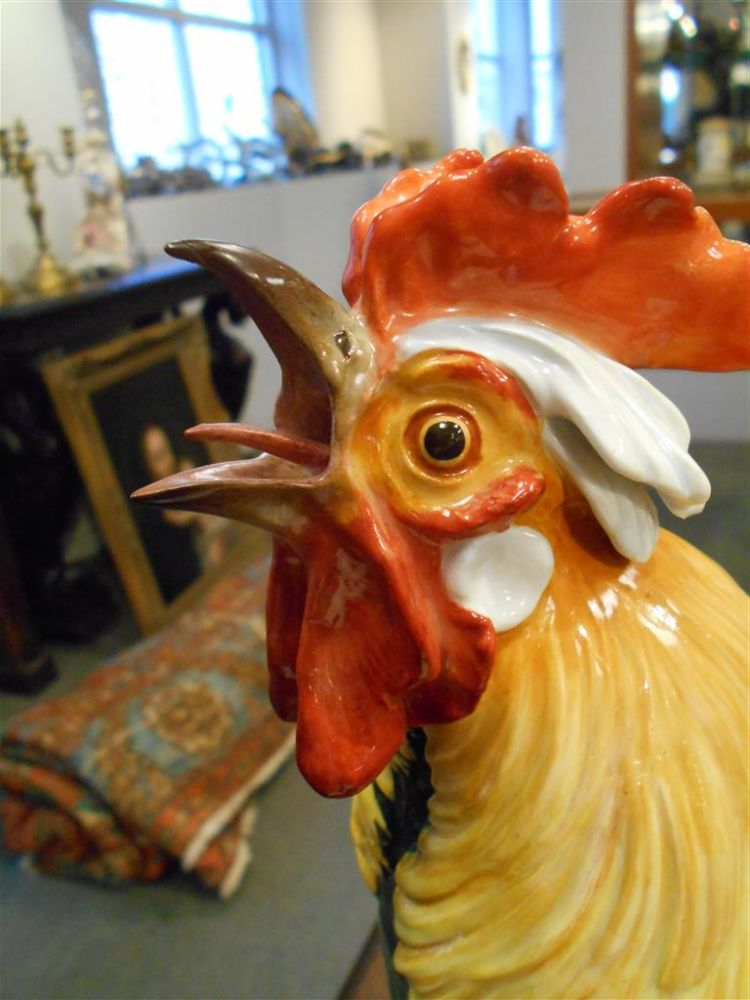Meissen Porcelain Figure of a Rooster