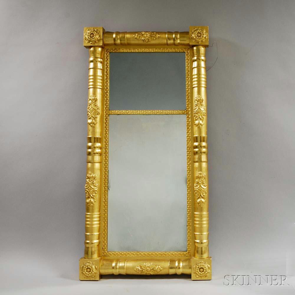Federal Carved and Gilt Split-baluster Mirror