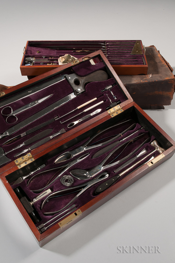 Identified Surgeon's Medical Kit Related to Surgeon Lincoln Ripley Stone, 54th Massachusetts Volunteer Infantry Regiment